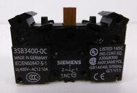 Siemens 3SB3400-0C Kontaktblock | 1 Öffner | Schraubanschluss