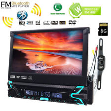 "7"" Flip Out Car Radio 1DIN Stereo CD DVD MP5 GPS Navigation System with Camera"