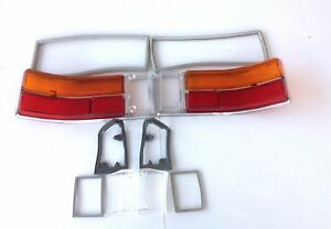 rear,front light white glas set with gaskets Opel Rekord C Commodore A