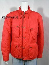 Polo RALPH LAUREN Waxed Diamond-Quilted Military/Moto/Biker Jacket Red size XXL