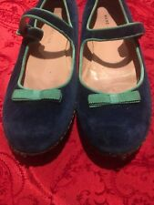 Marc Jacobs Authentic Velvet Mary Jane Flats Size 37 MSRP $389