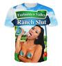 New Fashion Womens/Mens Forbidden Valley Ranch Slut 3D Print T-Shirt HJT201