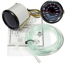 Universal 2″ LED Racing Car Turbo Boost Gauge Analog Meter Psi Black Bezel 12V