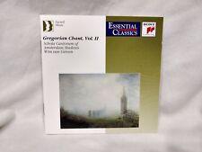 Gregorian Chant Vol. II Essential Classics Sony Music Classical           cd4774