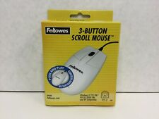 Fellowes 3-Button Scroll Mouse, Vintage Mouse, 99936