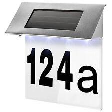 Tectake Numéro de Maison Énergie Solaire en Acier inox 4 LED lumineux Extérie