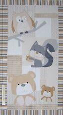 "24"" Fabric Panel - Nursery Baby Teddy Bear Wallhanging Cream Timeless Treasures"