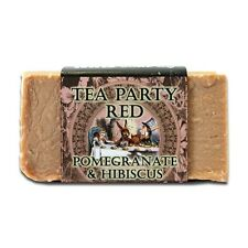 RAD Soap Co. Handmade Natural Body Bar, TEA PARTY RED Pomegranate Hibiscus 6+oz.