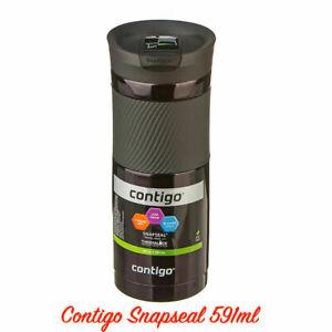 New Contigo Byron Snapseal Travel Mug 591ml Coffee Flask BPA Free Thermos Black