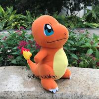 28cm Pokemon Go Charmander Plush Hitokage Dragon Stuffed Toy Soft Doll Figure