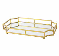 Ciel Gold Metal Mirrored 12x18 Decorative Tray by Kate and Laurel