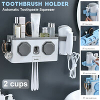 Multifunction Toothbrush Holder Automatic Toothpaste Dispenser Hair Dryer Racks