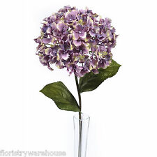 Artificial Hydrangea Stem Vintage Purple 68cm/26.75 Inches