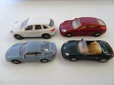 collectible set PORSCHE 2010 MODEL ROAD CARS 1:87 H0 Plastic miniatures Kinder