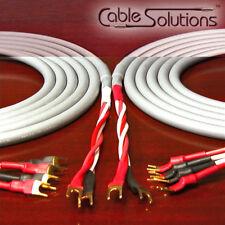 Canare 4S11 Star Quad Bi-Wire Speaker Cables 5m, Vampire Wire Terminations