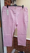 Super Pink Casual Trousers, Jean Style, Sequin Feature to Back Pockets, Size 30