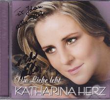 Katharina Herz-Die Liebe Lebt cd album gesigneerd