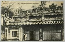 early 1900s Antique Postcard Saigon Vietnam Une Pagode Chinoise a Thundaumot