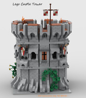 Modular Castle Tower for Lego - CUSTOM INSTRUCTIONS ONLY - PDF FILE ONLY!