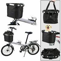 Foldable Bicycle Front Basket Bike Handlebar Basket Pet Cat Carrier Frame Bag