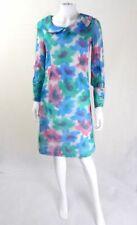 Original 1960s Vintage Pastel Watercolour Tunic Dress UK Size 10 Vintage Clothes