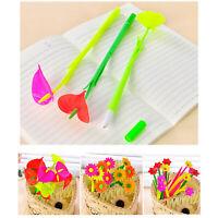 Fashion Funny Pen Flower Shape Children Writing Pens Gel Ink Office School