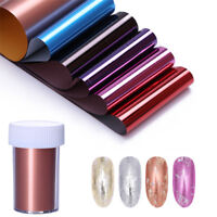 Nail Foil Transfer Stickers Colorful Mirror Effect Nail Art  Foils Decals