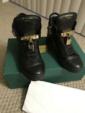 BUSCEMI WOMEN'S BLACK ALTA HIGH-TOP SNEAKERS 100mm  Size 5