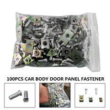 100X Car Body Door Panel Fastener Fixed Screw U-Nuts Type Gasket Fender Clips