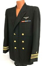 Vintage Us Navy Pilots Dress Blue Tunic - Bullion Wings