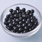 200pcs 8mm Black Round Natural Wood Loose Spacer Beads Wholesale Bulk Lot
