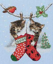 Anchor-cross stitch kit-noël-chatons-PCE0504