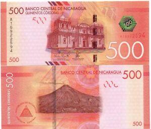 Nicaragua - 500 Cordobas 2015 ( 2014 ) UNC Pick 214 Lemberg-Zp