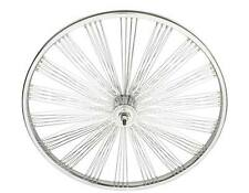 "BICYCLE 24"" FRONT FAN WHEEL 140 SPOKES CHROME CRUISER LOWRIDER BMX BIKES"