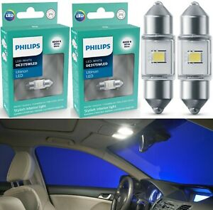 Philips Ultinon LED Light DE3021 White 6000K Two Bulbs Interior Map Replace Fit