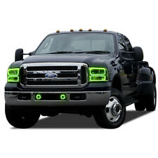 Brightest Green LED Halo Ring Headlight Fog Light Kit for Ford F-250  05-07