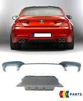 BMW NEW GENUINE 6 SERIES F06 F12 F13 M6 REAR BUMPER DIFFUSER WITH GUIDE SET