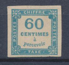 FRANCE TAXE N°9 60c Bleu Neuf Sans gomme Superbe. BELLE VARIETE N2057