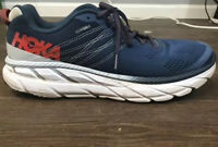 Hoka One One Clifton 6 Men's Running Athletic Shoe Sz 12  Blue/Red
