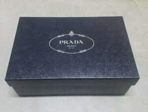 """Prada* Empty Storage Shoe box* Navy blue* 12""""x8""""x4.5"""" pre owned** authentic*"""