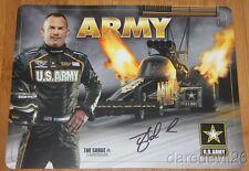 2015 Tony Schumacher signed U.S. Army Rounded Corners Top Fuel NHRA postcard
