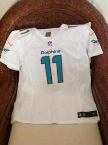 Miami Dolphins NFL white Jersey mike wallace new with tags #11 size XXL women's