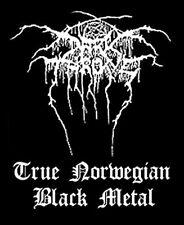 "DARKTHRONE - ""TRUE NORWEGIAN BLACK METAL'"" WOVEN SEW ON PATCH"