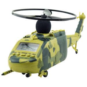 Wecker fliegend Hubschrauber Alarmwecker Tischuhr Alarm Uhr Kind Geschenk LED