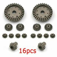 For WLtoys 12428 12423 1/12 RC Car 16PCS Upgrade Metal Gear Drive Shaft Parts