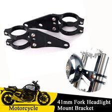 41mm Fork Headlight Light Mount Holder Bracket Black For Motorcycle Cafe Racer