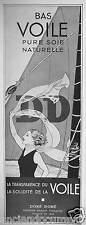 PUBLICITÉ 1936 BAS DD VOILE PURE SOIE NATURELLE - DORÉ-DORÉ - ADVERTISING