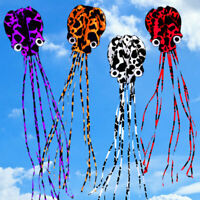 Large 4m Octopus Kite With 30M Line Kids Adults Beach Park Holiday Toys Gift AU