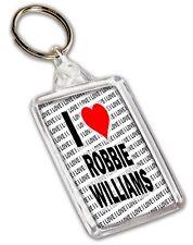 I Love Robbie Williams Keyring - Gift - Birthday - Christmas - Stocking Filler
