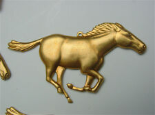 Detailed Brass Horse Decoration for Clocks and Boxes ( Pack of 5 )